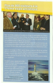 Exposition Saint Jean le Blanc Mars 2012
