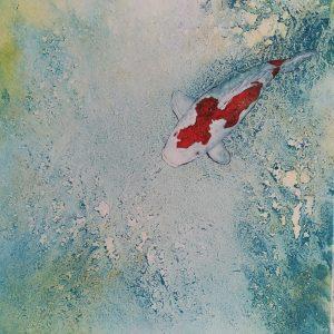 Ide et eau, 30x30, japanese painting