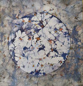 sakuras retrouvées, 30x30, japanese painting