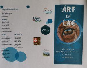 Art en lac, Lac d'aiguebelette, expositions peintures et sculptures, 7 et 8 aout 2021